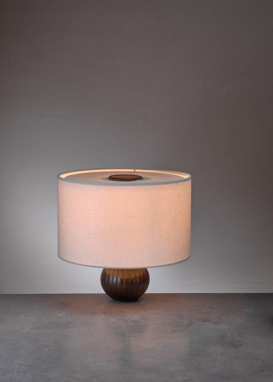 Danish Just Andersen Metal Table Lamp, Denmark, 1930s For Sale