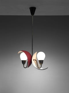 Bent Karlby Adjustable Pendant, Denmark, 1950s