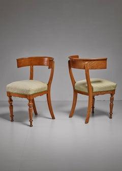 Pair of Oak Klismos Chairs, Sweden