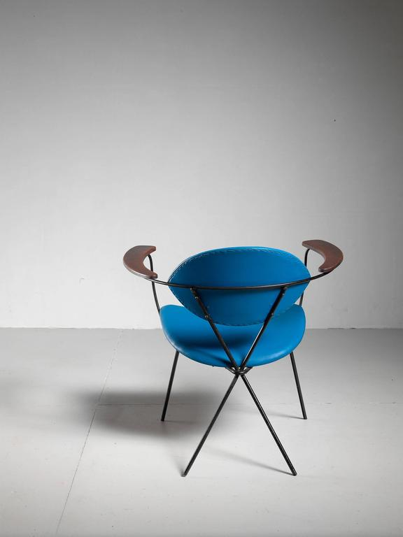 Blue Joseph Cicchelli Chair for Reilly Wolf, USA, 1950s 3