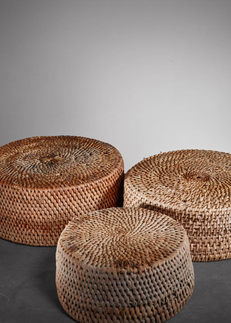 Set of Three Woven Folk Art Baskets, Sweden In Good Condition For Sale In Maastricht, NL