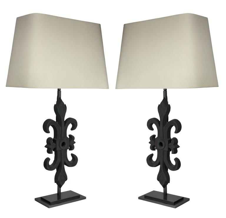 Pair of Architectural Table Lamps