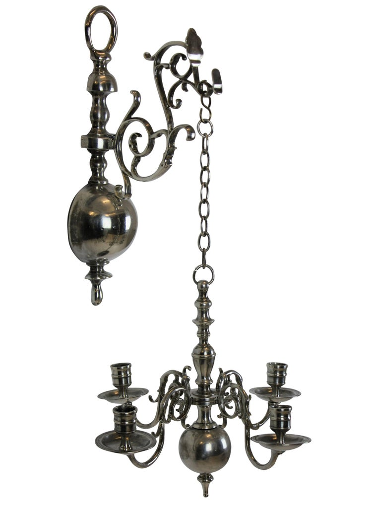 Pair of English Silver Wall Chandelier 4