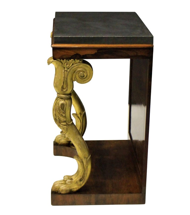 English Regency Console Table For Sale