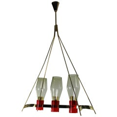 Oblong, 1950s Pendant Light