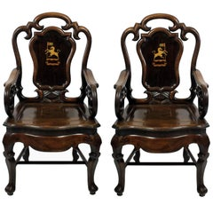 Pair of Early 19th Century Anglo Chinese Armchairs