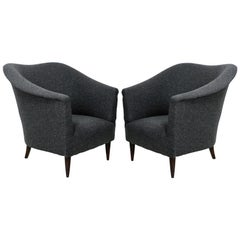 Pair of Sculptural Armchairs