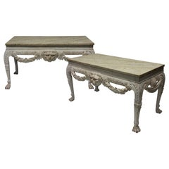 Pair of Large English Country House Consoles