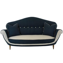 Large Italian Sofa of Unusual Design and Shape