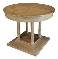 French Limed Oak Pillar Table