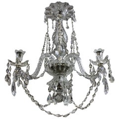 19th Century Cut Glass Chandelier by Baccarat