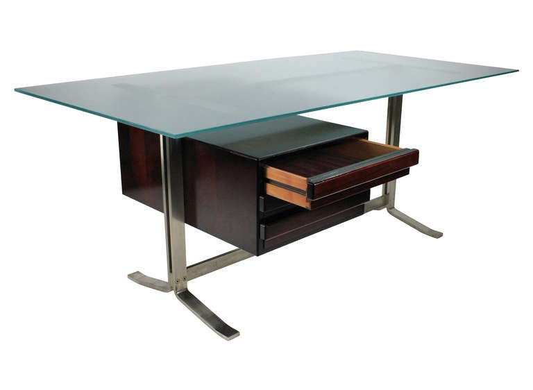 Mid-Century Modern Large Executive Desk by Formanova, Milan For Sale