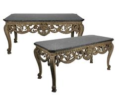 Important Pair of English Console Tables