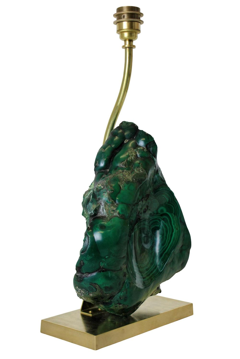 unusual french malachite lamp at 1stdibs