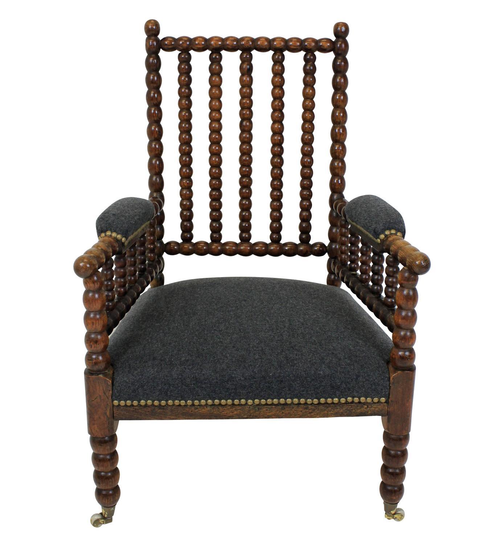 English Oak Bobbin Chair at 1stdibs