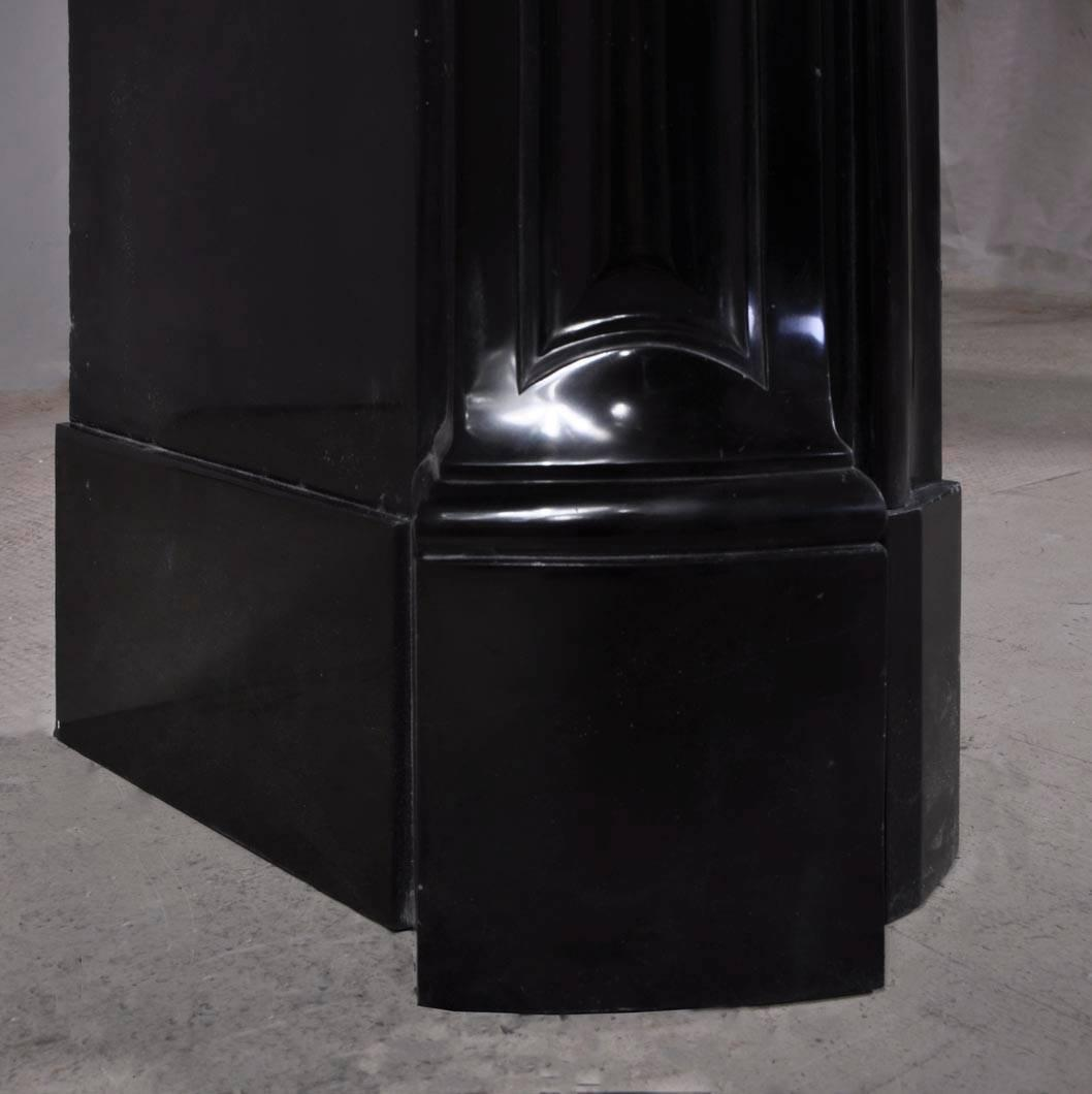 Pure black marble fireplace mantel period 1880 at 1stdibs