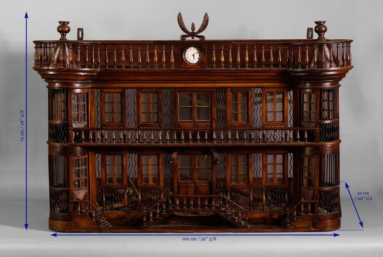 Rare Bird Cage in the Shape of a Miniature Castle, Late 19th Century For Sale 1