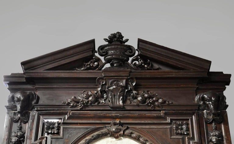 Antique Wooden And Stucco Fireplace Large Medallion With