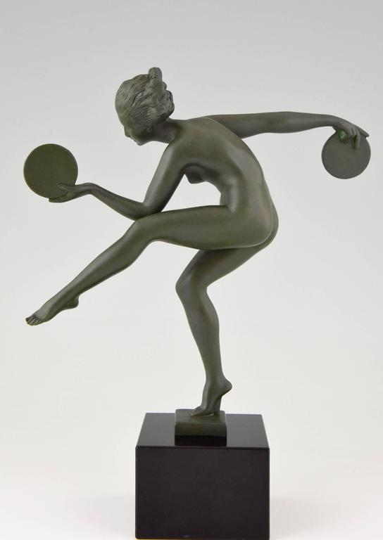 Art Deco Bronze Standing Nude by Wilhelm Oskar Prack, 1930