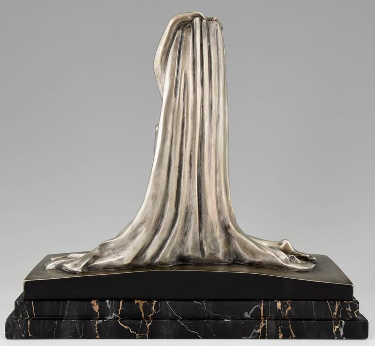 French Art Deco Sculpture of a Nude by Derenne, 1930 at