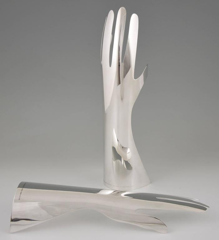 Le Mani, the Hands Silver Plated Sculpture by Gio Ponti, Sabatini ...