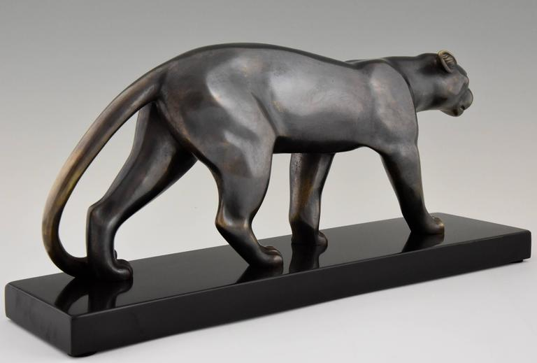 French Art Deco Sculpture of a Walking Panther, Emile Louis Bracquemond, 1930 3