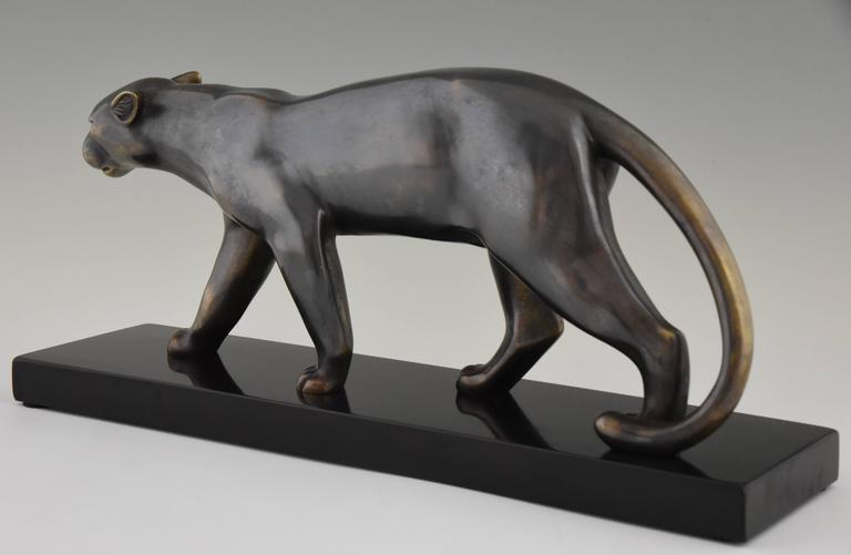 French Art Deco Sculpture of a Walking Panther, Emile Louis Bracquemond, 1930 2