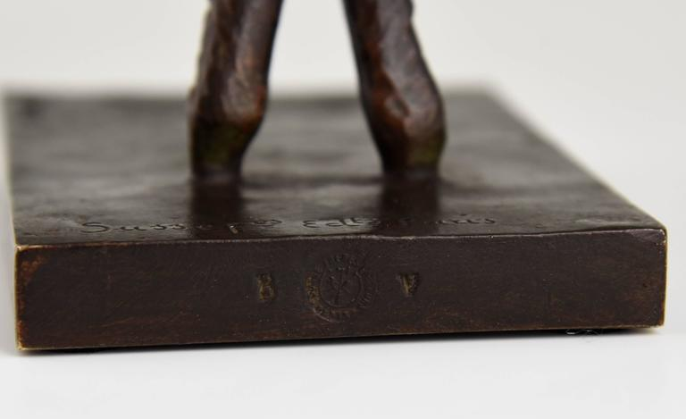Art Deco Bronze Lamb Bookends by Paul Silvestre, 1930 France For Sale 4