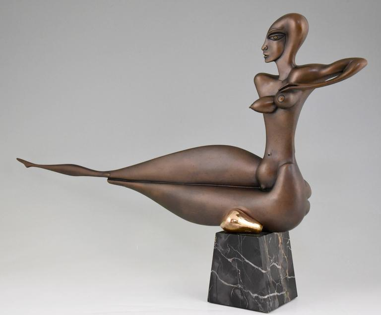 Modern bronze sculpture of a nude by Paul Wunderlich (1927-2006)