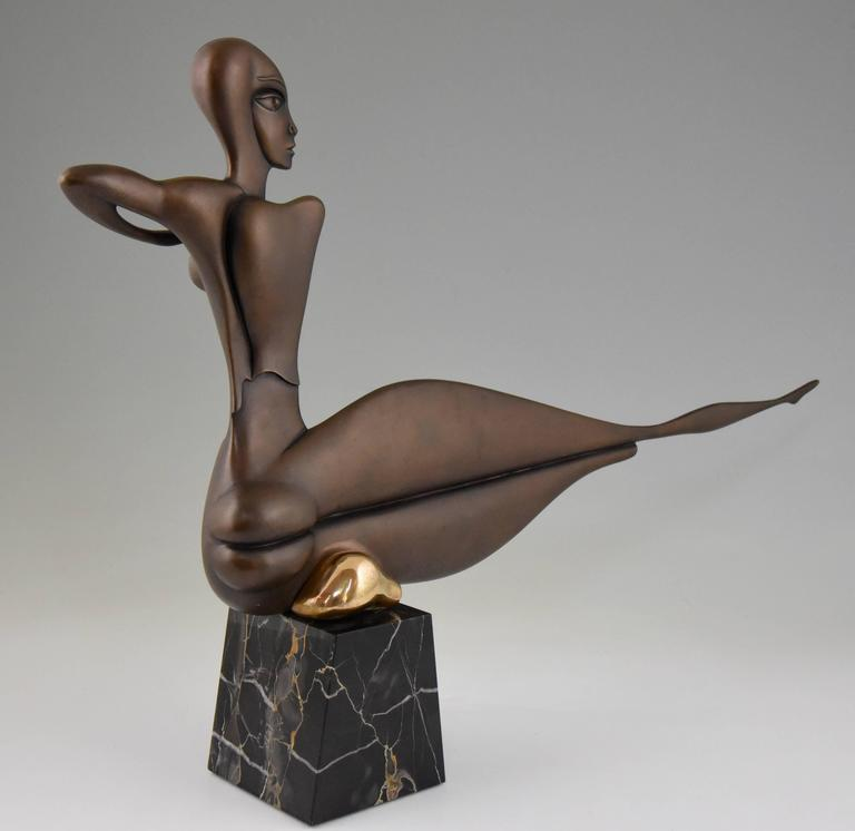 Modern Bronze Sculpture of a Nude Paul Wunderlich Signed and Numbered In Excellent Condition For Sale In Antwerp, BE