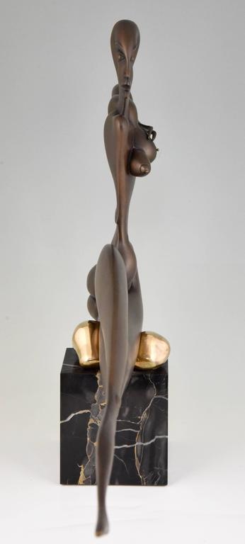 20th Century Modern Bronze Sculpture of a Nude Paul Wunderlich Signed and Numbered For Sale