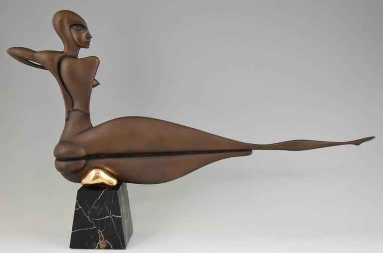 German Modern Bronze Sculpture of a Nude Paul Wunderlich Signed and Numbered For Sale