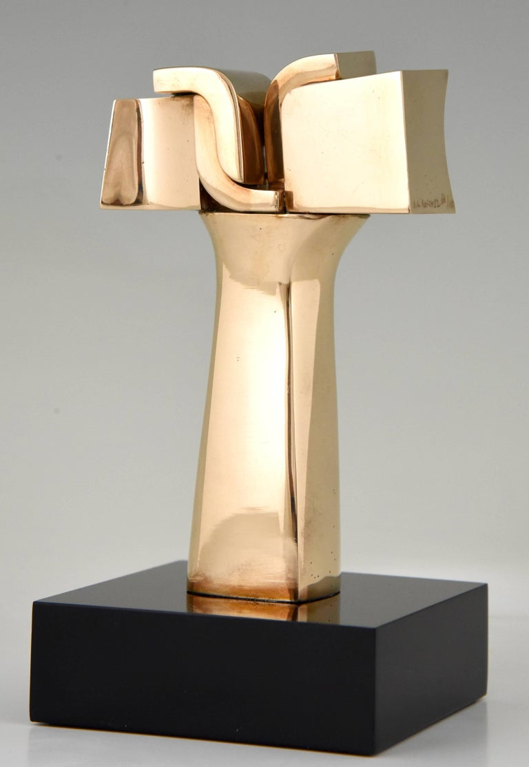 20th Century Mid-Century Modern Bronze Abstract Sculpture José Luiz Sanchez
