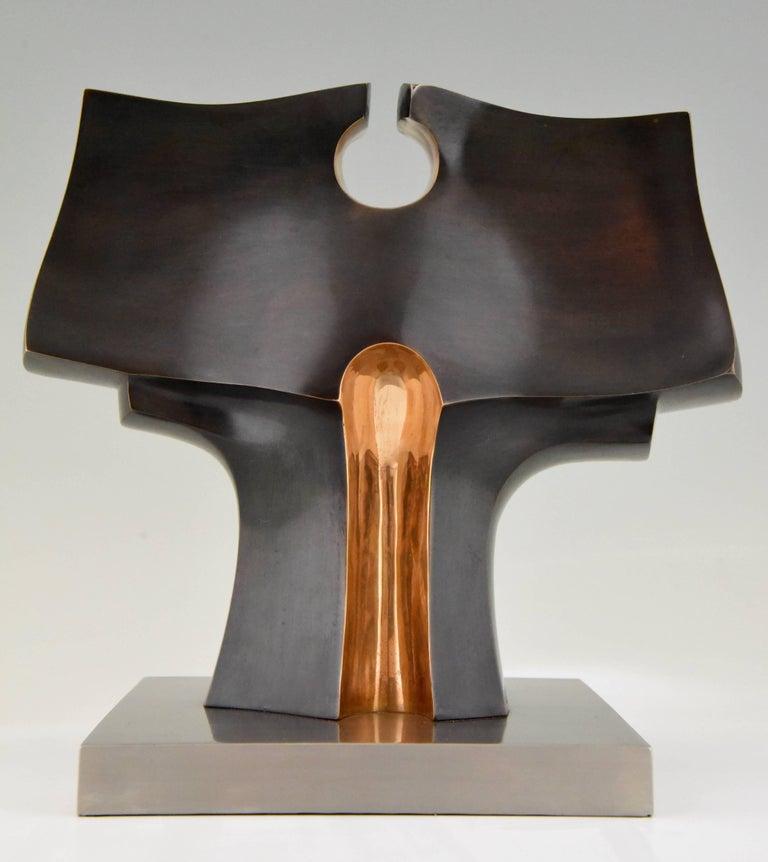 Mid-Century Modern Deidad or Deity Bronze Abstract Sculpture by José Luiz Sanchez Signed Numbered  For Sale
