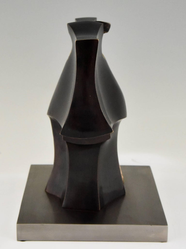 20th Century Deidad or Deity Bronze Abstract Sculpture by José Luiz Sanchez Signed Numbered  For Sale