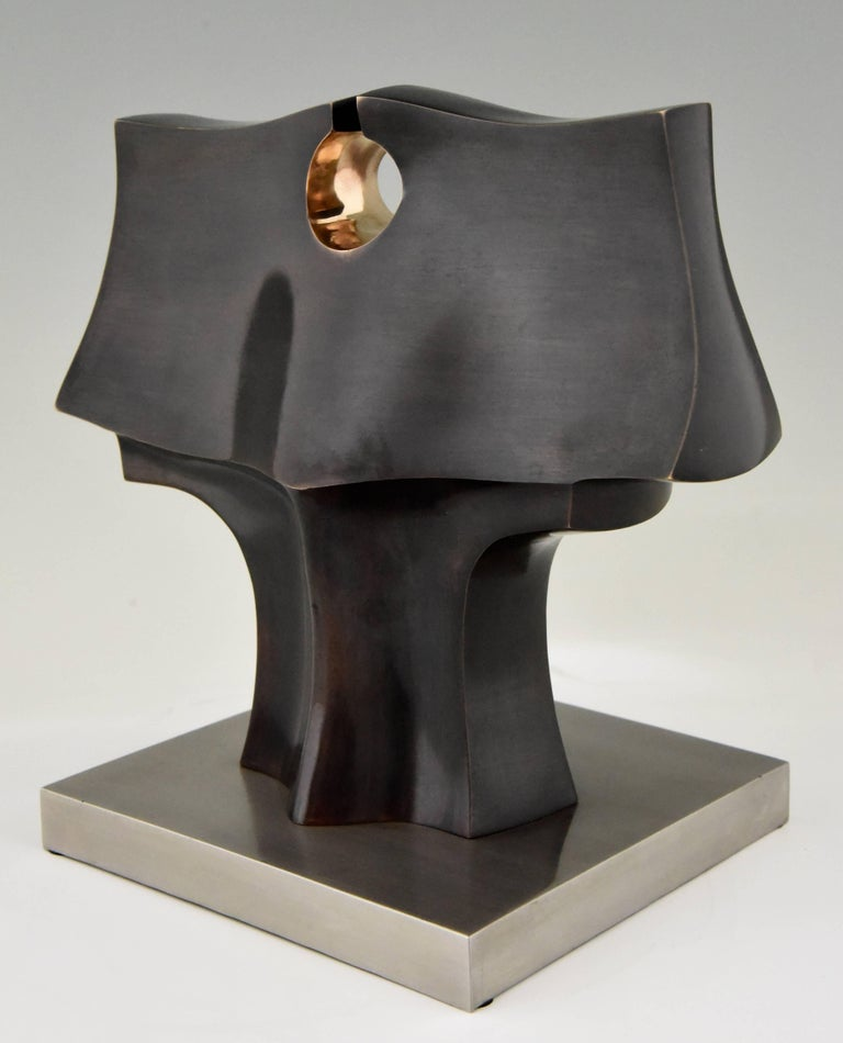 Deidad or Deity Bronze Abstract Sculpture by José Luiz Sanchez Signed Numbered  In Good Condition For Sale In Antwerp, BE