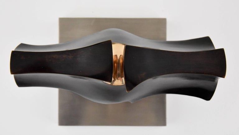 Stainless Steel Deidad or Deity Bronze Abstract Sculpture by José Luiz Sanchez Signed Numbered  For Sale