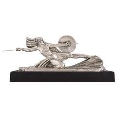 Amazone, Art Deco Bronze Sculpture Female Nude Warrior by Marcel Andre Bouraine