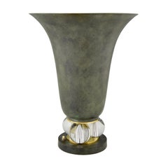 Art Deco Uplighter Torchiere Table Lamp, France, 1930