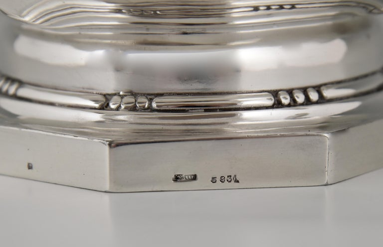 Art Deco Silver Plated Centrepiece or Fruit Dish Gallia, Christofle Sue & Mare For Sale 2