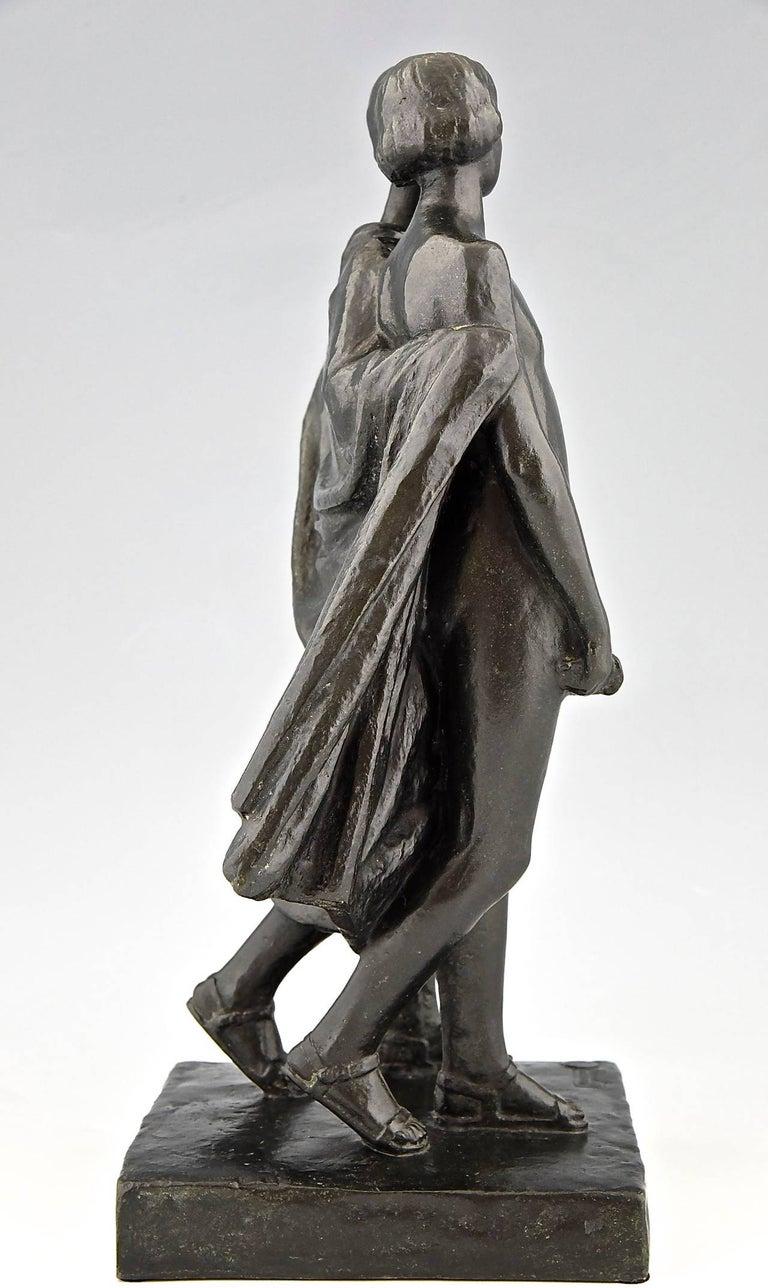 20th Century Pierre Lenoir Art Deco Bronze Sculpture of Two Nudes 1930  France For Sale