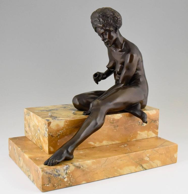 Art Deco Bronze Sculpture African Nude by Clarisse Levy Kinsbourg, 1930, France In Good Condition For Sale In Antwerp, BE
