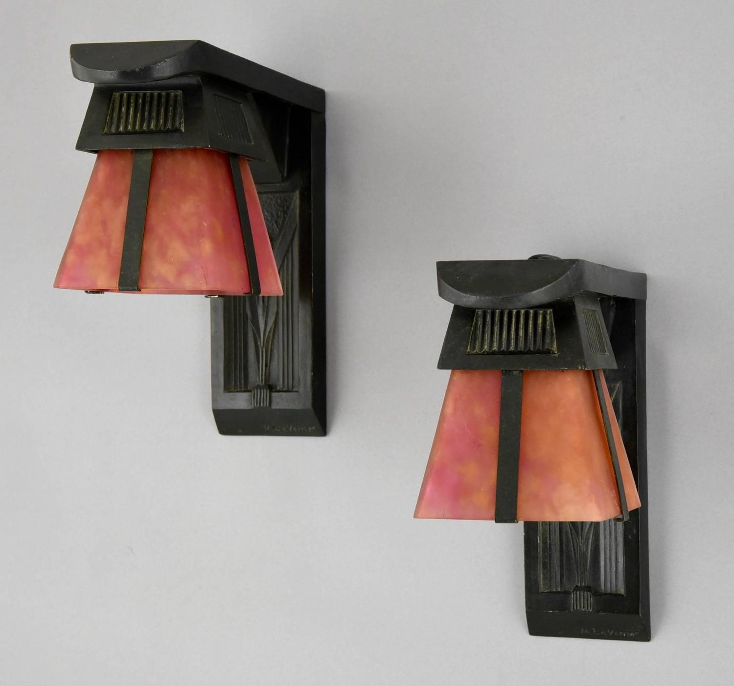 Wall Deco With Lights : Max Le Verrier and Daum Art Deco Wall Lights, Appliques with Birds, 1930 at 1stdibs