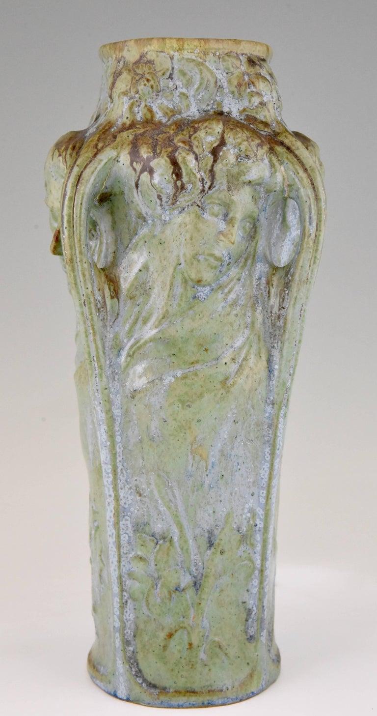 Art nouveau vase four womens faces four seasons michelet for french art nouveau vase four womens faces four seasons michelet for gentil bourdet reviewsmspy