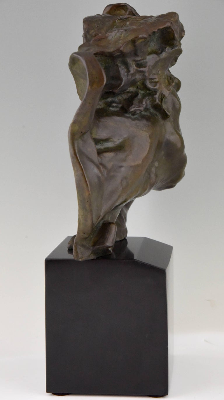 20th Century Art Deco Bronze Sculpture of a Man the Rhone by André César Vermare France, 1920 For Sale
