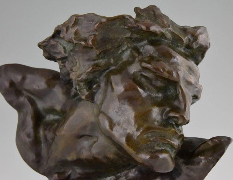 Art Deco Bronze Sculpture of a Man the Rhone by André César Vermare France, 1920 For Sale 4