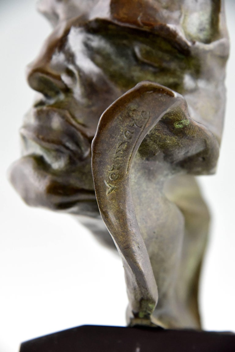 Art Deco Bronze Sculpture of a Man the Rhone by André César Vermare France, 1920 For Sale 3