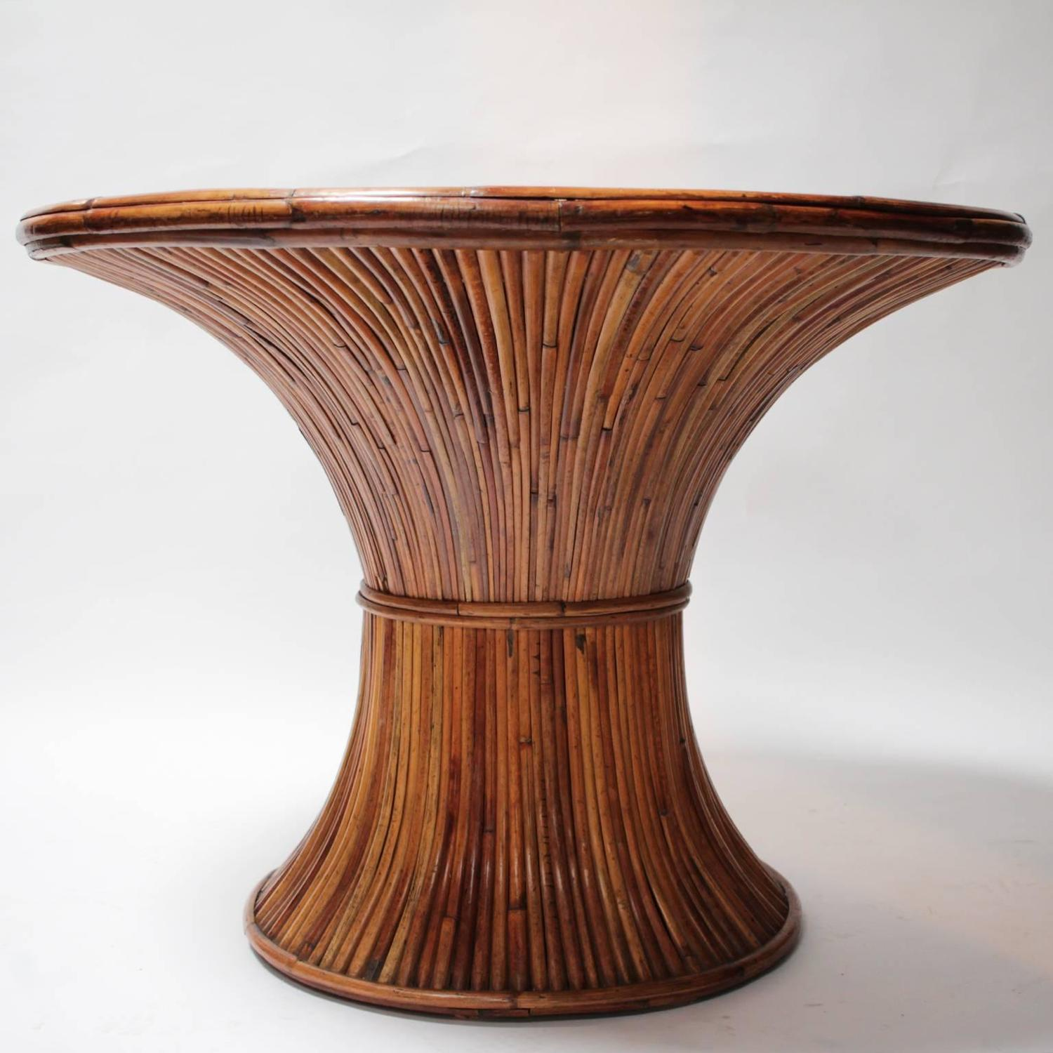 bamboo dining room table by gabriella crespi for sale at