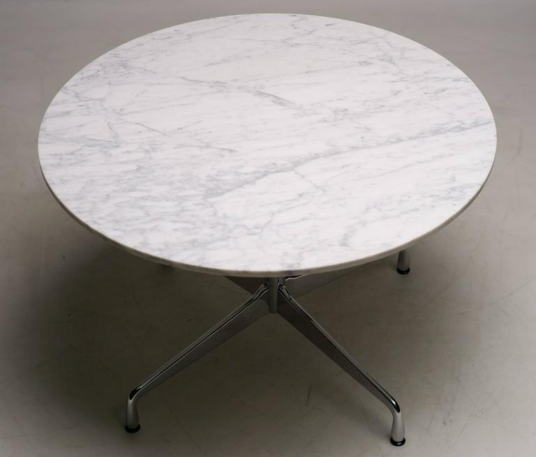 Eames Marble Coffee Table: Charles And Ray Eames Carrara Marble Segmented Base Dining