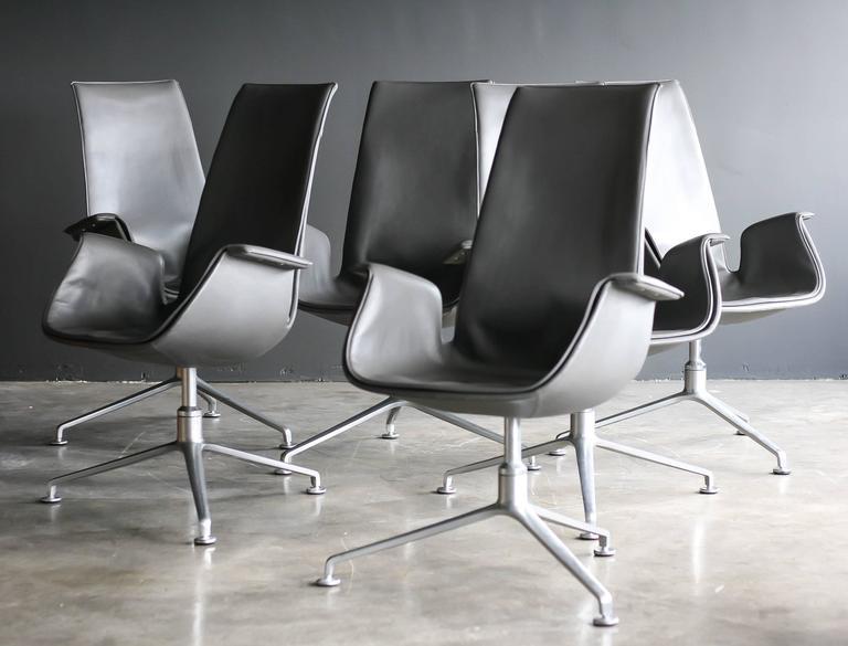 Scandinavian Modern FK 6725 Conference Chairs by Preben Fabricius & Jørgen Kastholm For Sale